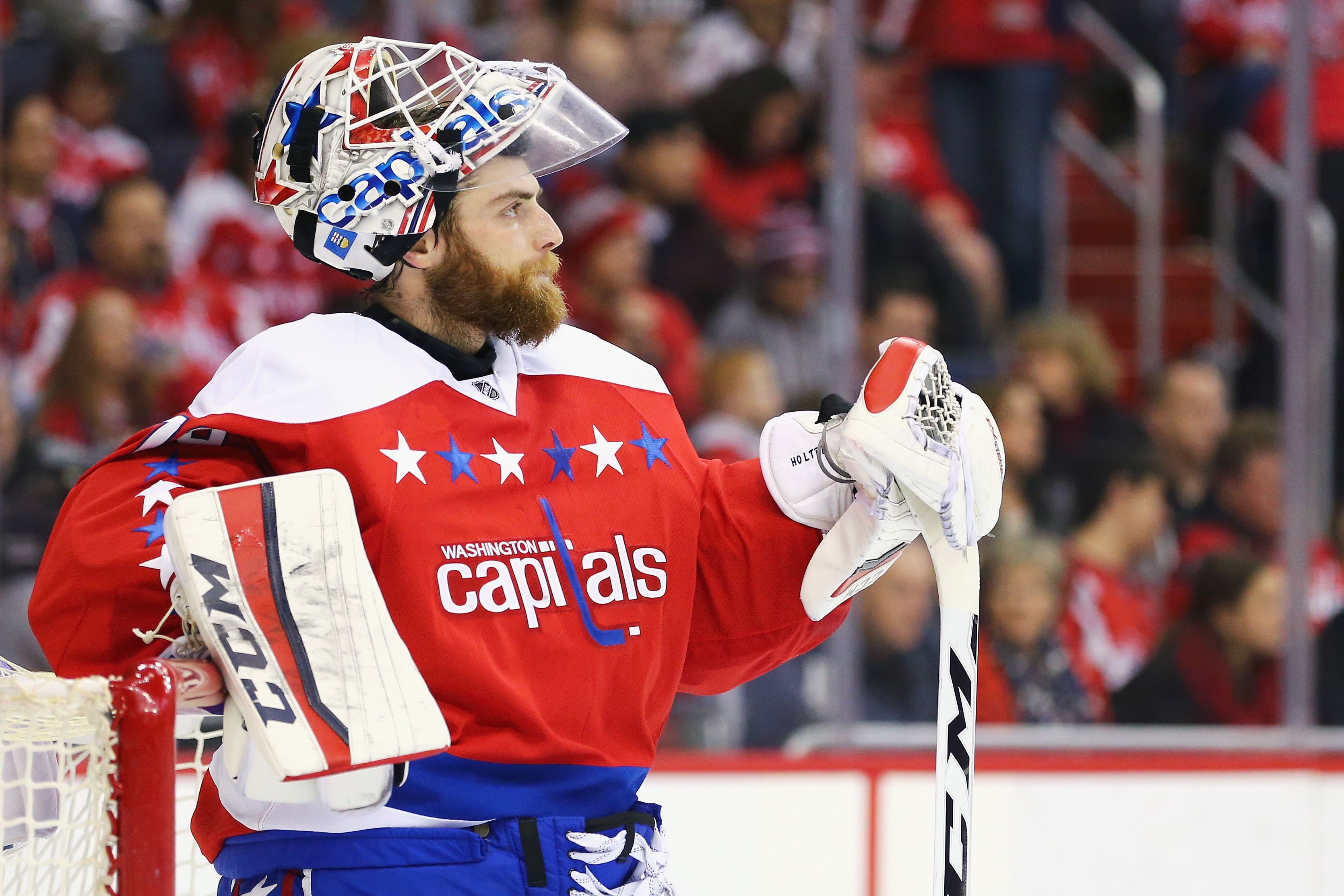 Braden Holtby Gives A Stick To A Young Fan Battling Cancer The Little Thing5